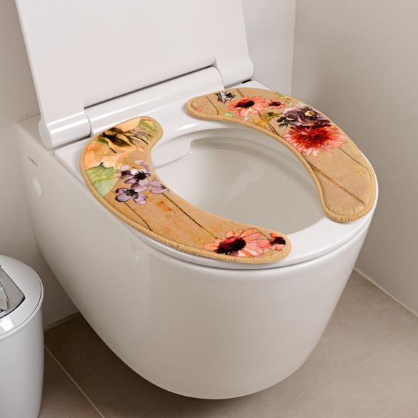 Coussin pour WC Fleurs