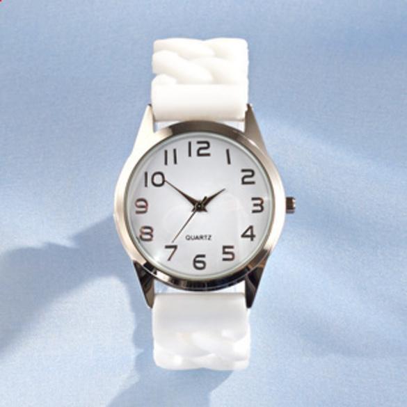 Montre à bracelet extensible, blanc