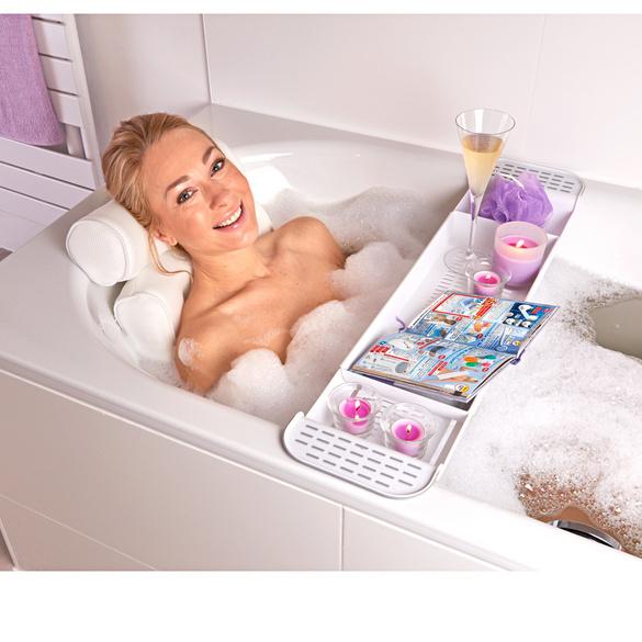Tablette pour baignoire, blanc