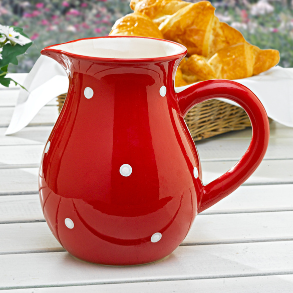 "Carafe ""Pois"", rouge"