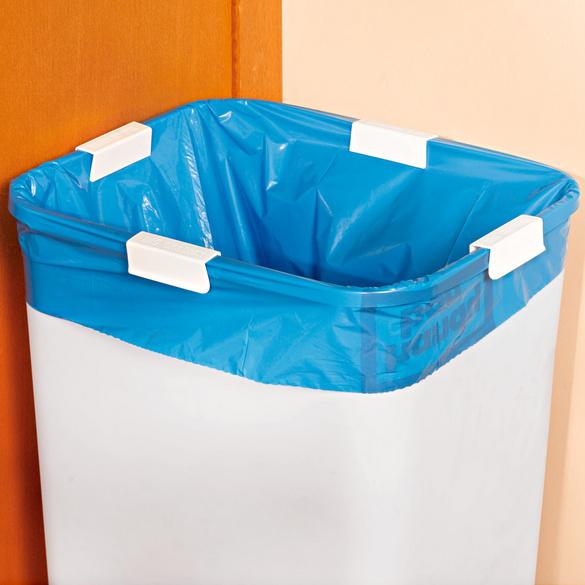 Pinces pour sacs poubelle, lot de 4