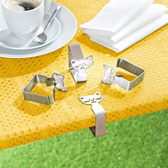 Pinces à nappe Chat, lot de 4