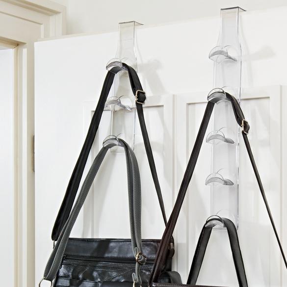 Support pour sacs, 3 crochets, transparent