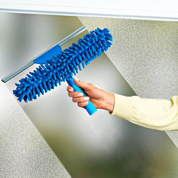 Nettoie-vitres télescopique, bleu