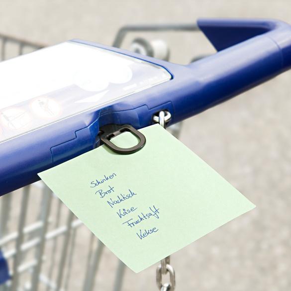 2 en 1 : jeton de chariot et pince pour liste de courses