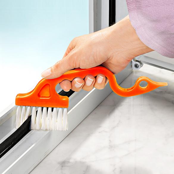 Brosse spéciale pour fenêtres, orange