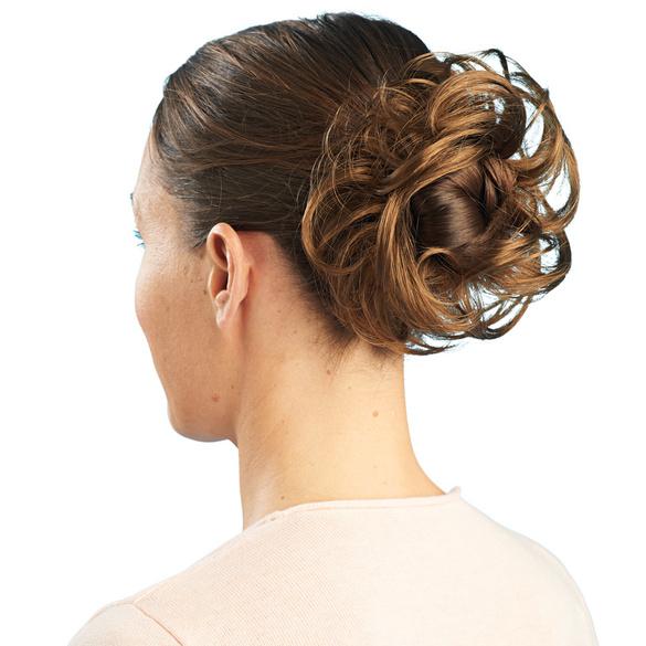 Bandeau de cheveux avec clip, châtain