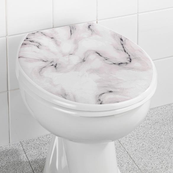 Décor adhésif siège de toilettes Marbre