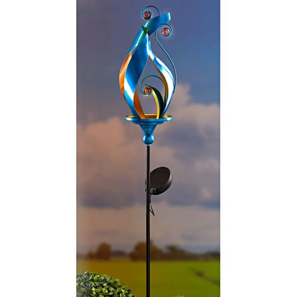 Lampe solaire, bleu