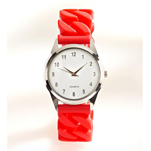 Montre à bracelet stretch, rouge