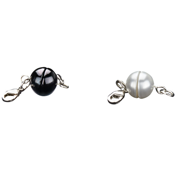 Lot de 2 fermoirs à bijoux Perle fantaisie