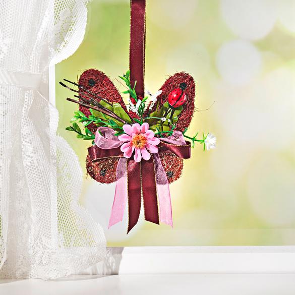Papillon en sisal, bordeaux