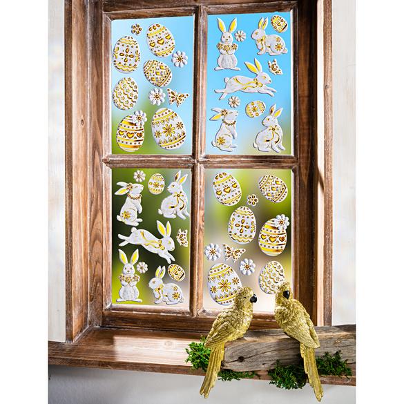 Décoration de fenêtre Lapins