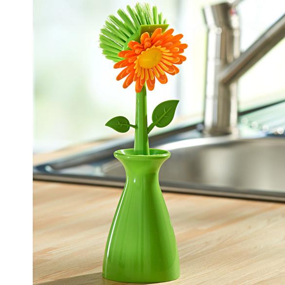 Brosse à vaisselle Fleur