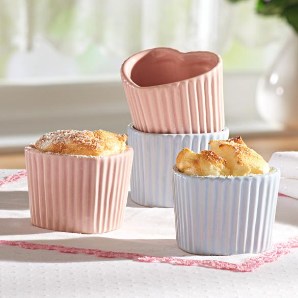 Lot de 2 moules à muffins  Cœur