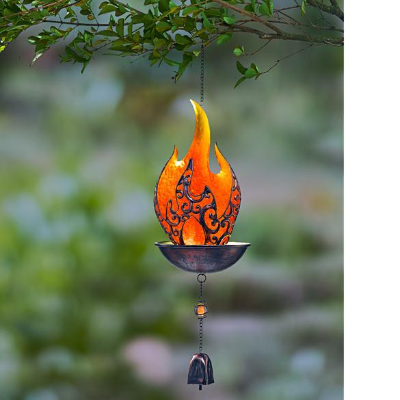 Flamme solaire à suspendre
