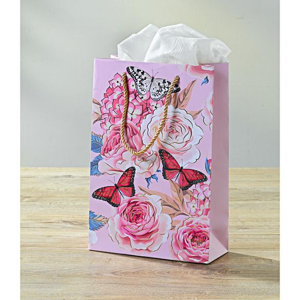 Pochette cadeau Fleurs (format portrait)