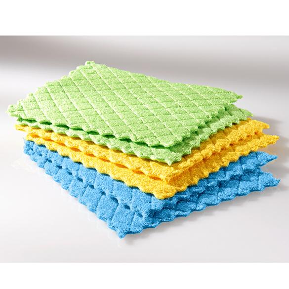 Lot de 6 tissus éponges en microfibre