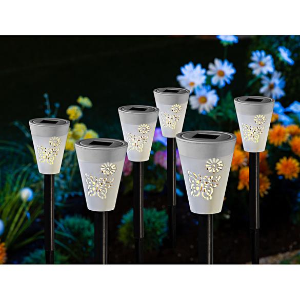 Lot de 6 lampes solaires design