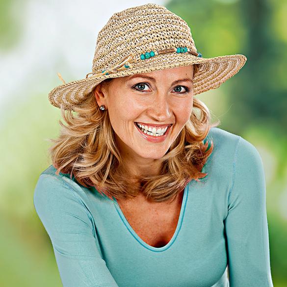 Chapeau de soleil Safari, turquoise