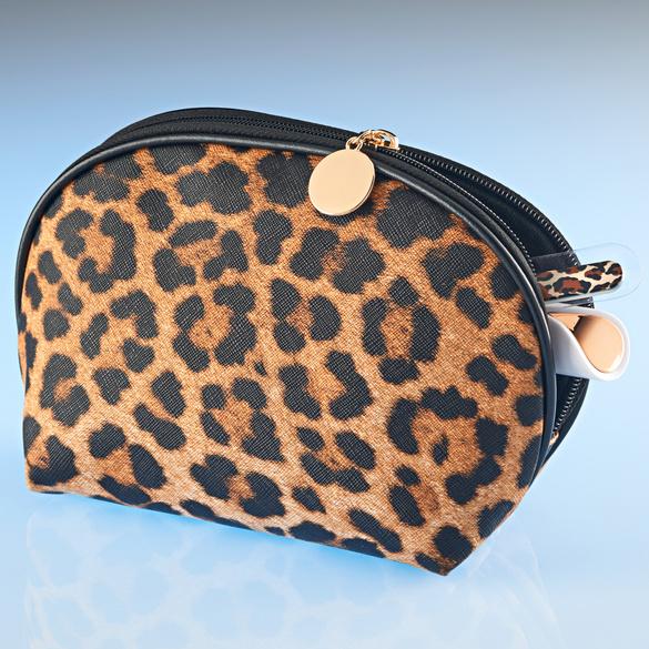 Trousse à maquillage, léopard