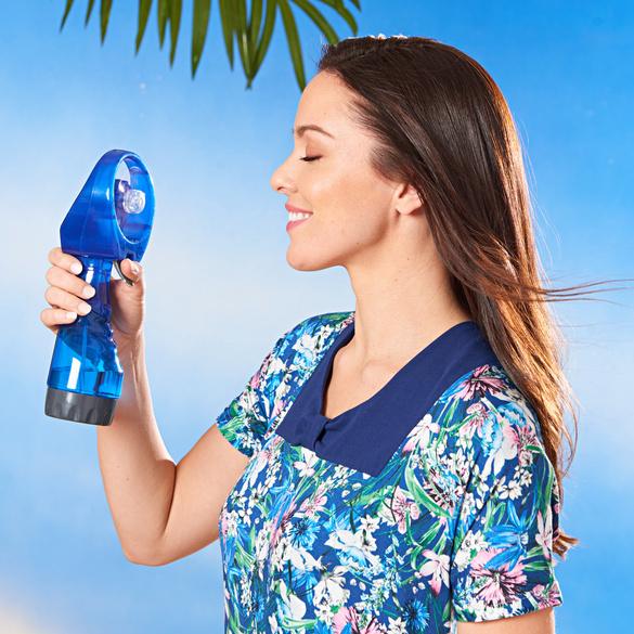 Ventilateur à main avec fonction spray