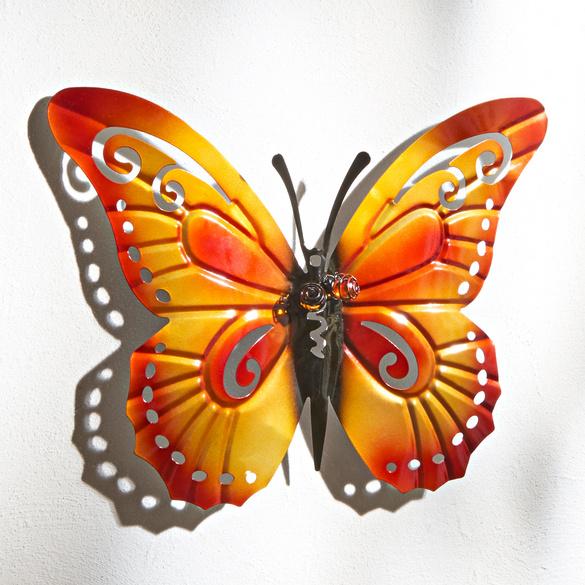 Papillon, rouge/orange