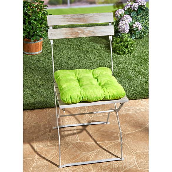 Coussin de chaise Marbre, vert