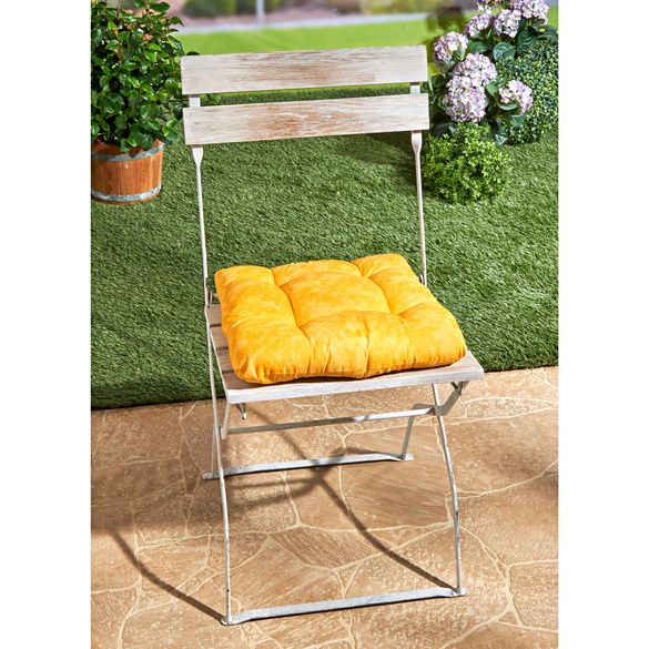 Coussin de chaise Marbre, jaune