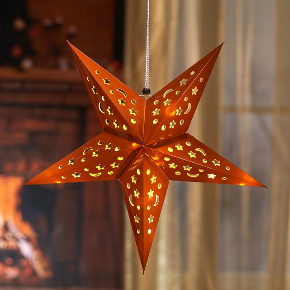 Étoile de Noël à LED, coloris cuivre