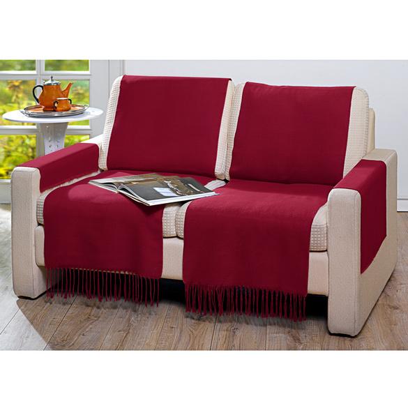 Protège-fauteuil 50x200cm, bordeaux