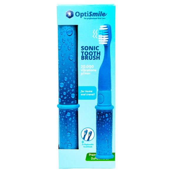 Brosse à dents sonique, bleu