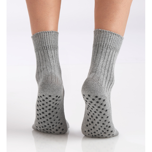 BLANCHO BEDDING Chaussettes antid/érapantes pour Adultes 3 Couleurs pour Chaussettes de Pantoufles pour Hommes et Femmes de Yoga Pilates Ballet