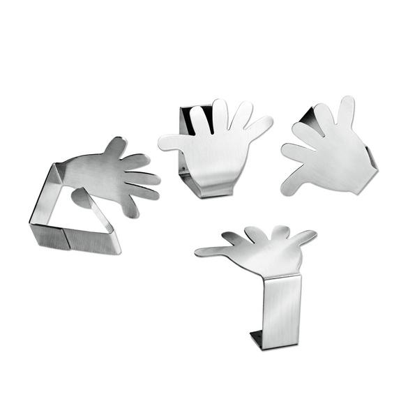 Pince pour nappe « Main »,  lot de 4