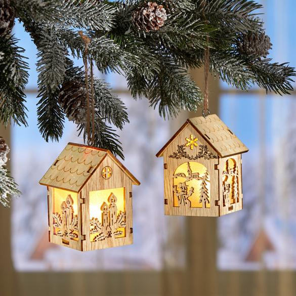 Décoration à suspendre à LED Maison, motif : bougies
