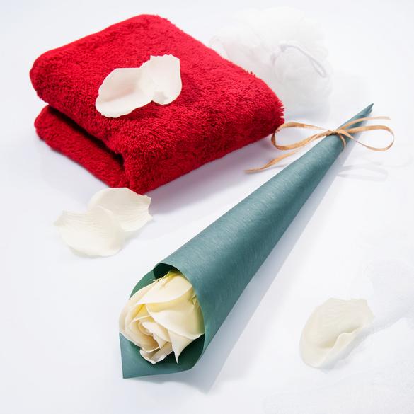 Fleur de savon, blanc