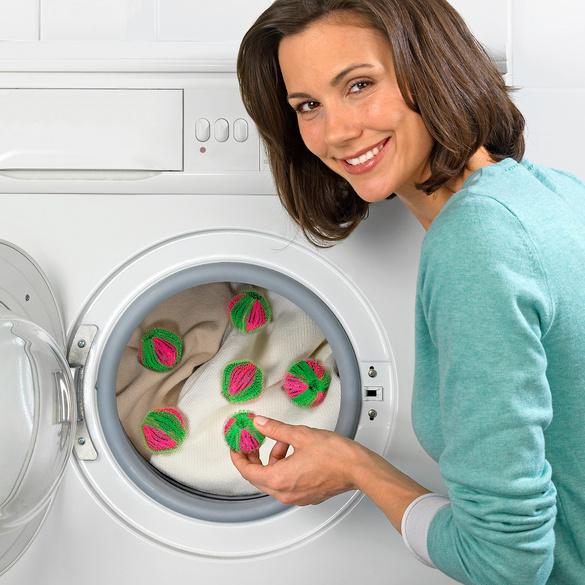 Lot de 6 boules de lavage antipeluches