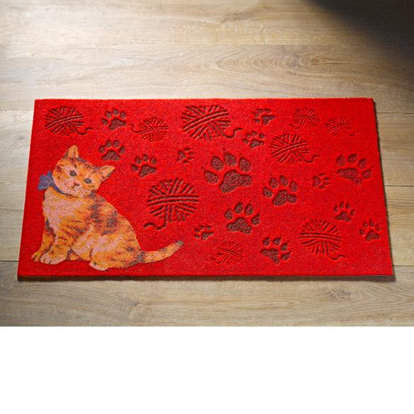 Paillasson Chat, rouge 70x45