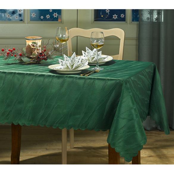 Nappe jacquard 130x220, vert
