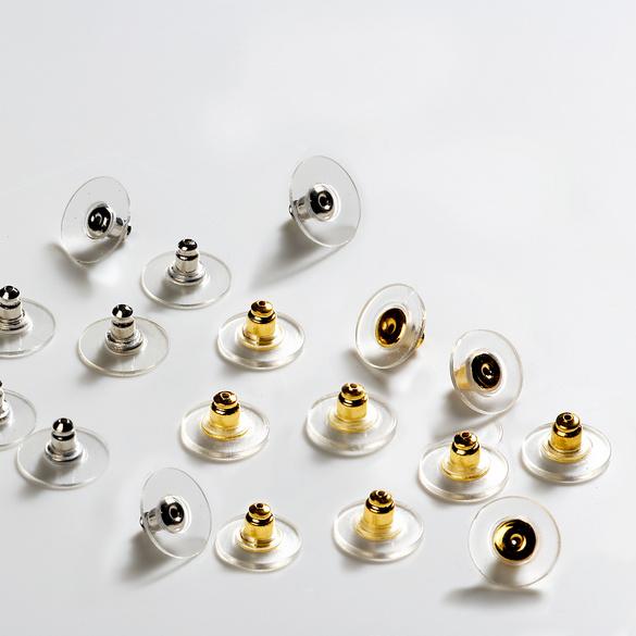 Lot de 10 paires de fermoirs sécurité pour boucles d'oreilles