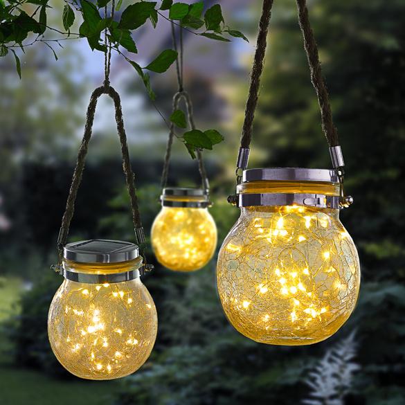 Boule à LED solaire à suspendre