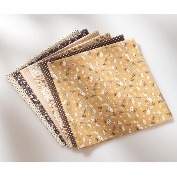 Tissus pour masques, beige/marron, 7 pièces