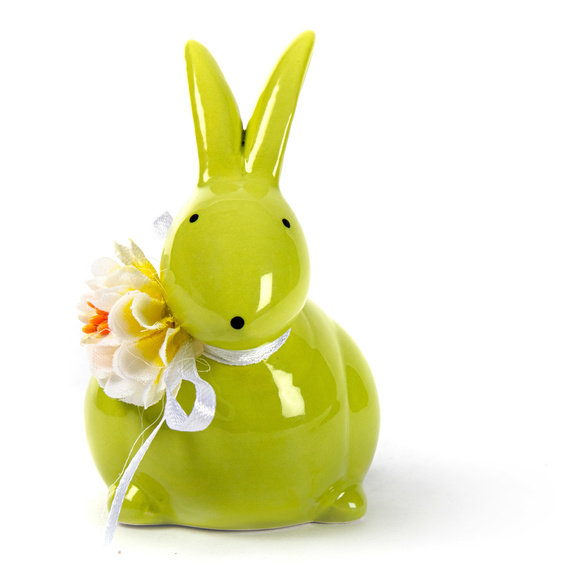 Lapin vert avec Fleurs