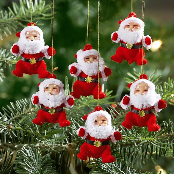 6 Decorations Pere Noel Vitrine Magique