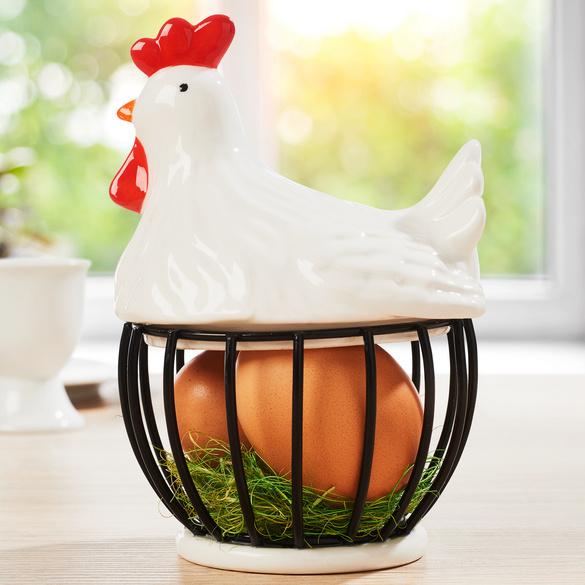 Panier à œufs Poule