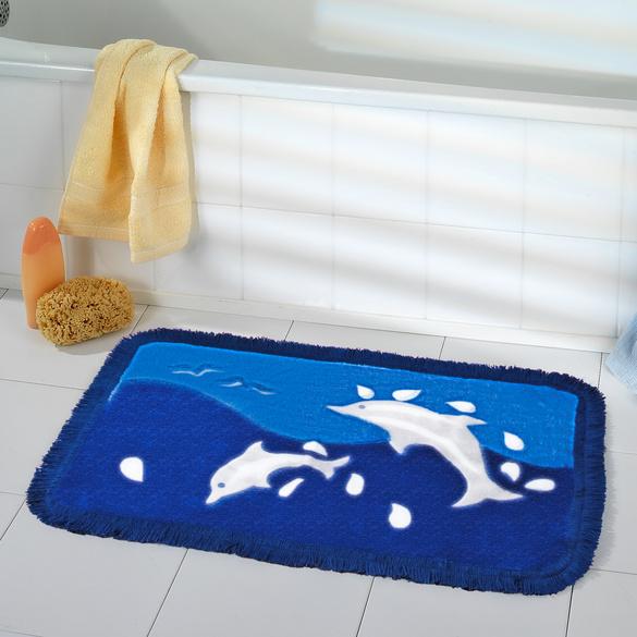 ensemble tapis de bain dauphin 3 pieces vitrine magique. Black Bedroom Furniture Sets. Home Design Ideas