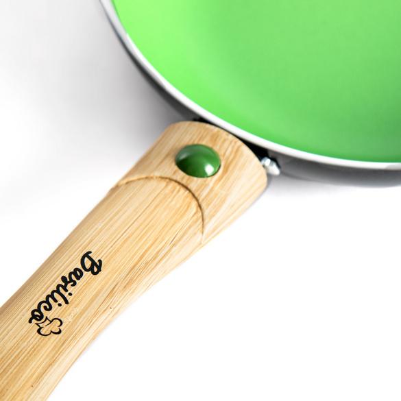 Poêle, vert 24cm Basilico