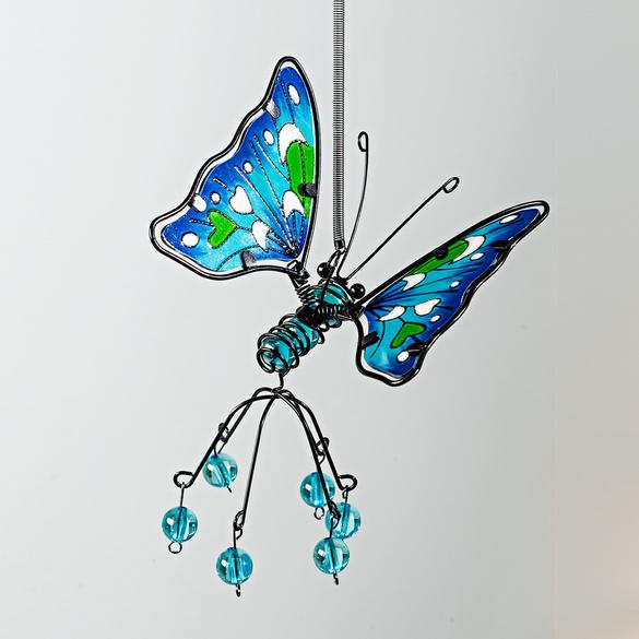Mobile Papillon, bleu
