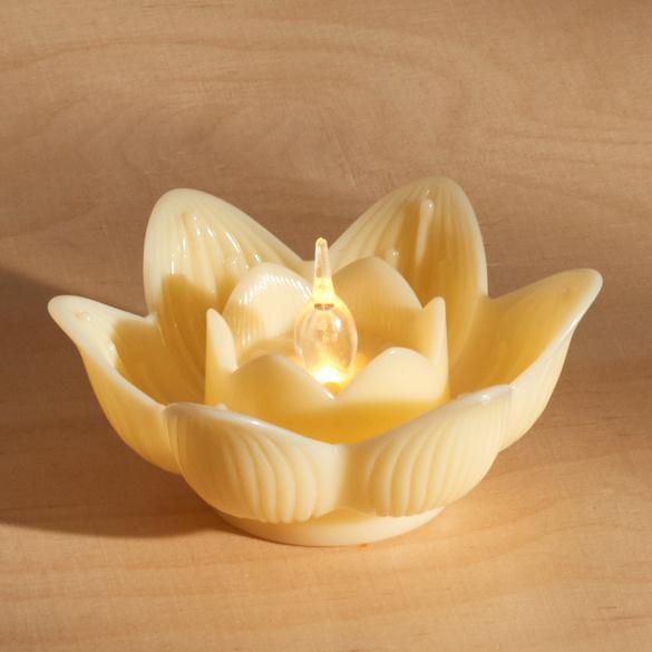 Bougies à LED Lotus, jaune