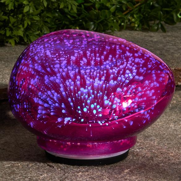 Pierre lumineuse LED, fuchsia